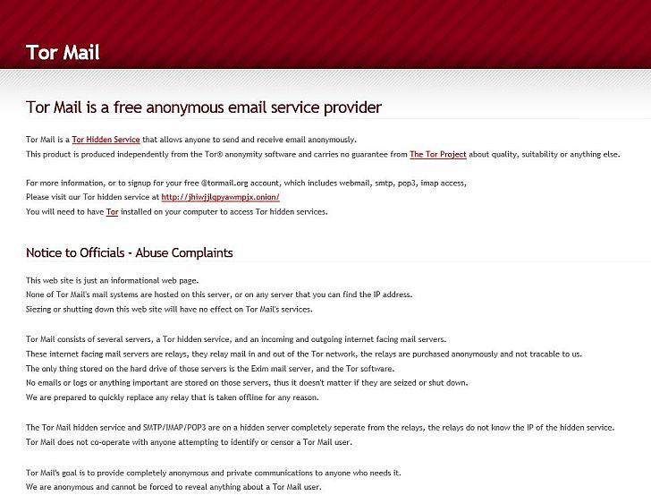 A TorMail teljesen anonim levelezést és lenyomozhatatlan kommunikációt ígér a felhasználóknak. A jelek szerint teljesen alaptalanul.