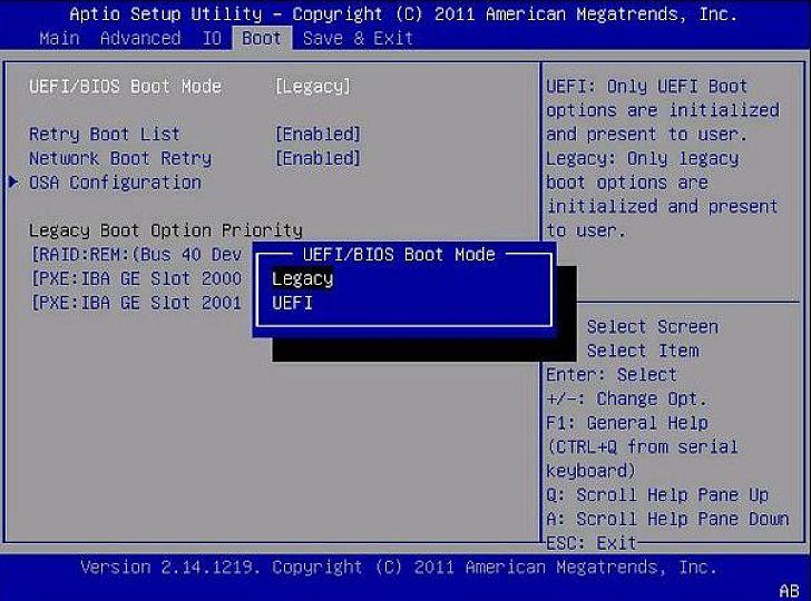 A BIOS-nak tudnia kell az UEFI módot. Ha nem ismeri, az alap frissítése vagy cseréje lehet szükséges.